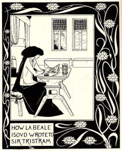 Aubrey Beardsley, How La Beale Isoud Wrote to Sir Tristram, 1892