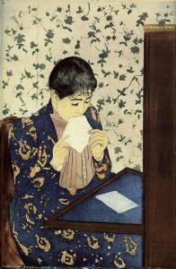 Mary Cassatt the-letter-1891